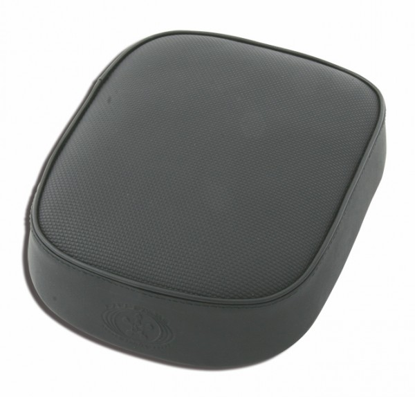 Suction Cup Pillion Pad Black Vinyl, 6 Suction Cups, 26x20x5, asphalt