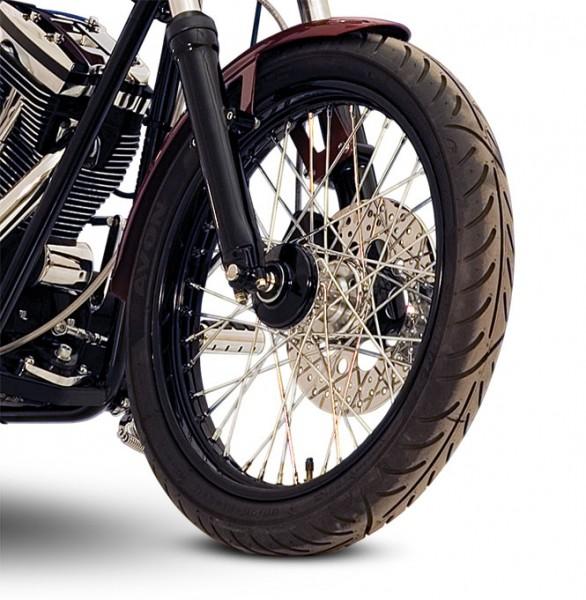 "Paughco, Front Disc Brake 40-Spoke Wheel Assembly 21"" x 2.15"", Narrow Glide Fork, Black"