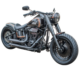 umgebaute harley davidson softail von bsb customs