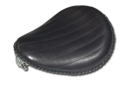 "13"" Black Leather Solo Seat"