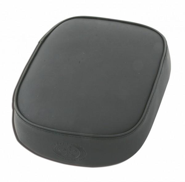 Suction Cup Pillion Pad Black Leather, 6 Suction Cups, 26x20x5, plain