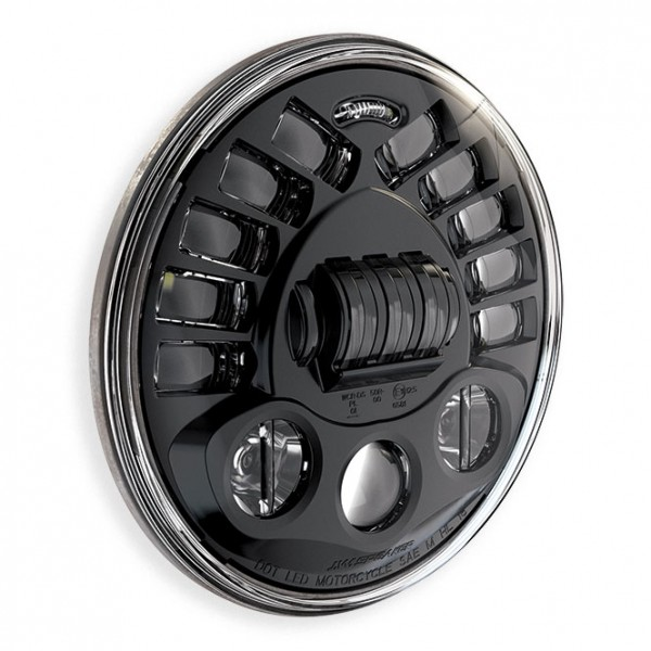 "JW Speaker 8790A, LED Adaptive 7"" Headlight insert, Black Introducing a bright white LED headlight w"