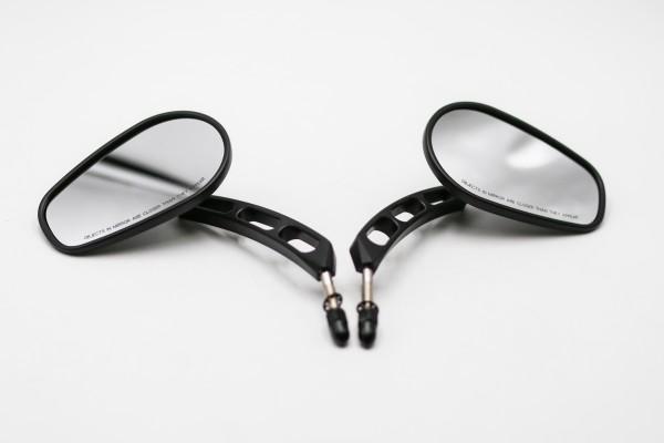 Edge cut Spiegel Set für Harley Davidson Softail Dyna Sportster SCHWARZ