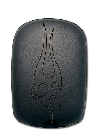 Small Black Embrod Tribal Flame P-Pad
