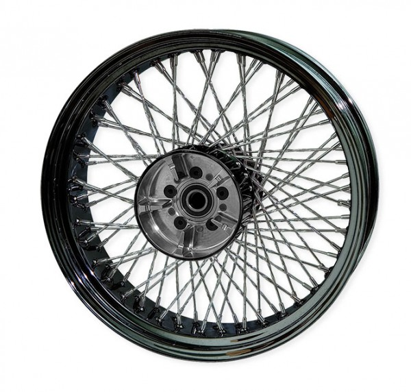 Paughco, Rear 80-Spoke Wheel Assembly 18 X 5.5 Round, Black