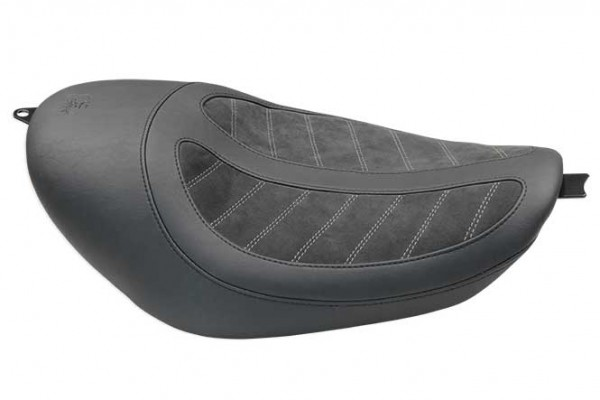 Fred Kodlin Signature Series, HD Sportster Solo Seat With 2,1 / 3,3 / 4,5 Gallon Tanks Black