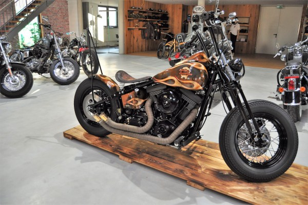 VERKAUFT !!!! ´99 Evo FXST Softail Bobber Umbau by BSB customs + Garantie
