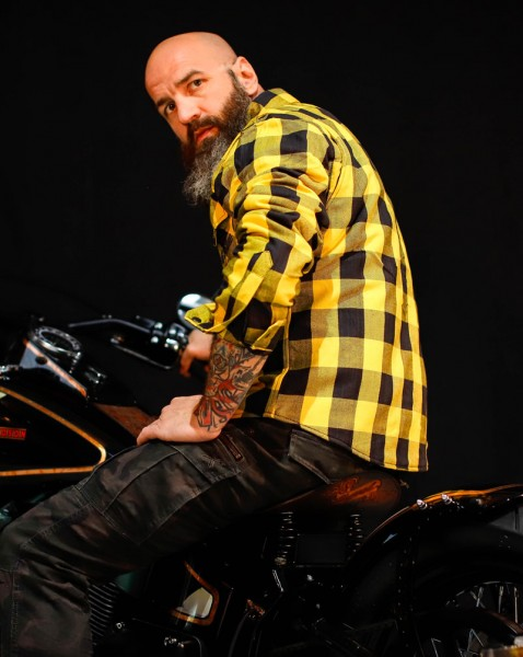 BSB Customs Kevlar® Biker-Shirt gelb