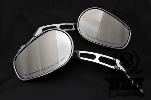 Edge cut Spiegel Set für Harley Davidson Softail Dyna Sportster CHROME