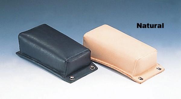Pillion Pad, Vintage, Genuine Leather, Natural