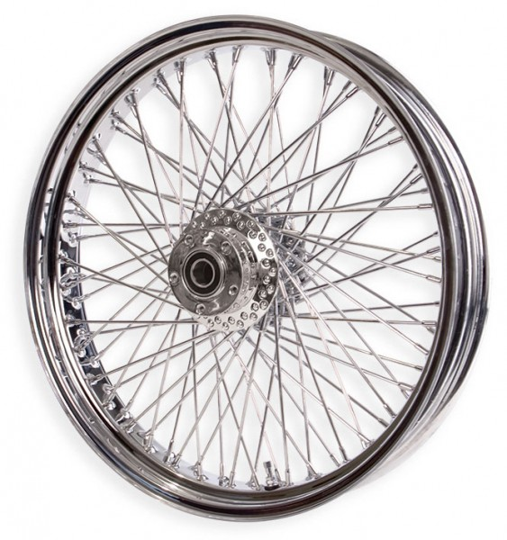 "Paughco, Front 80-Spoke Wheel Assembly 18"" x 3.50"" dual disc, Chrome"