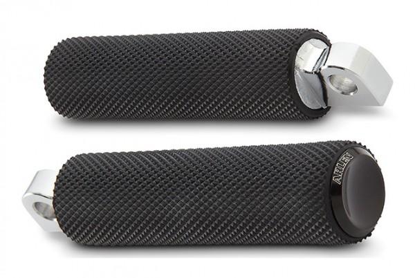 Knurled Rubber Footpegs, black