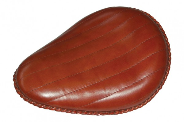 """13"""" Brown Leather Solo Seat"""