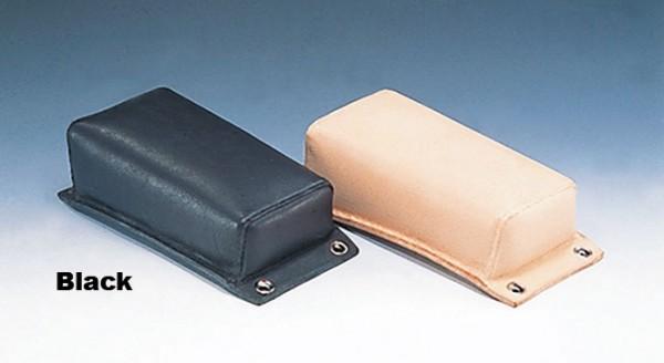 Pillion Pad, Vintage, Genuine Leather, Black