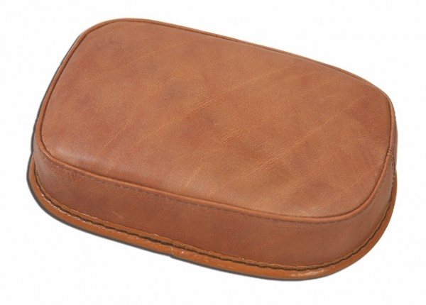 Suction Cup Pillion Pad Brown Leather, 6 Suction Cups, 26x20x5, plain