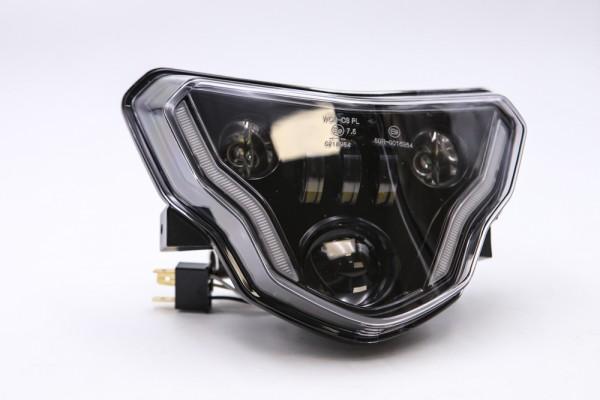 LED Scheinwerfer BMW G310 schwarz, Standlicht, E-Zulassung