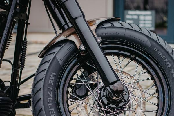 """2000-2017 Stahl Frontfender für 120 - 140 Tyre 21"""" Softail Modelle (geschlossen)"""