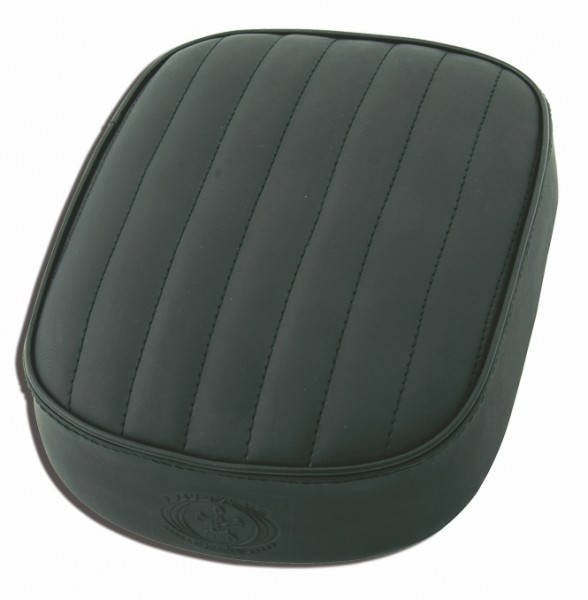 Suction Cup Pillion Pad Black Leather, 6 Suction Cups, 26x20x5, horizontal stitch