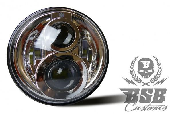 LED Scheinwerfer 7 Zoll , Standlicht, E-Zulassung für Touring & Softail bis 2020 * CHROME*